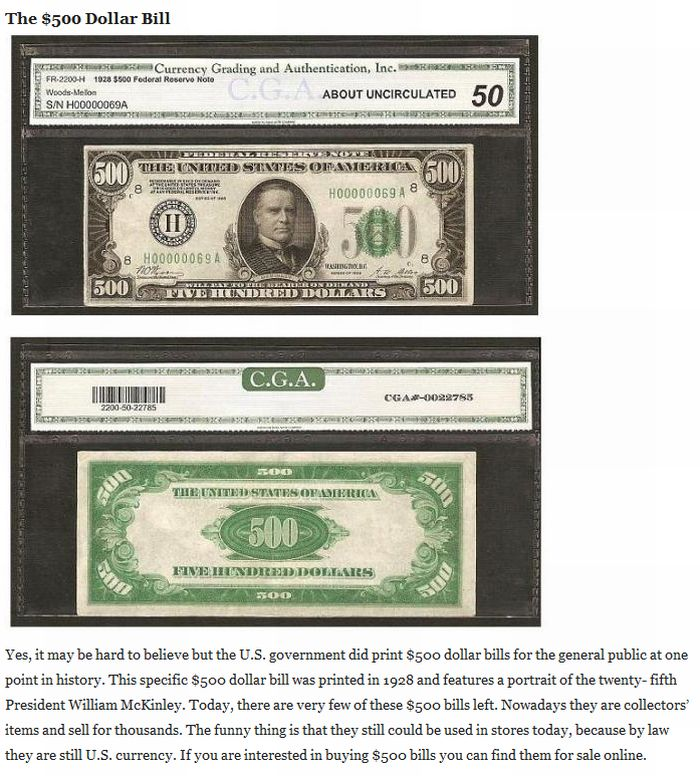 The Biggest Dollar Bills in History (5 pics)