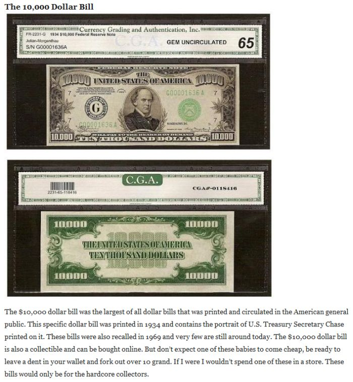 The Biggest Dollar Bills in History (5 pics)