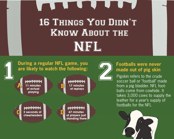 16 Things You Didn't Know About the NFL (infographic)