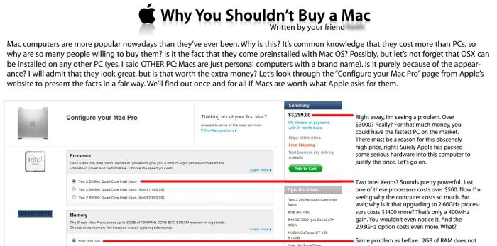 Why You Shouldn't Buy a Mac (1 pic)