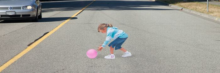 Speed Bump of the Future. An Illusion (2 pics + video)