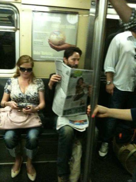 Celebrities in Subway (14 pics)
