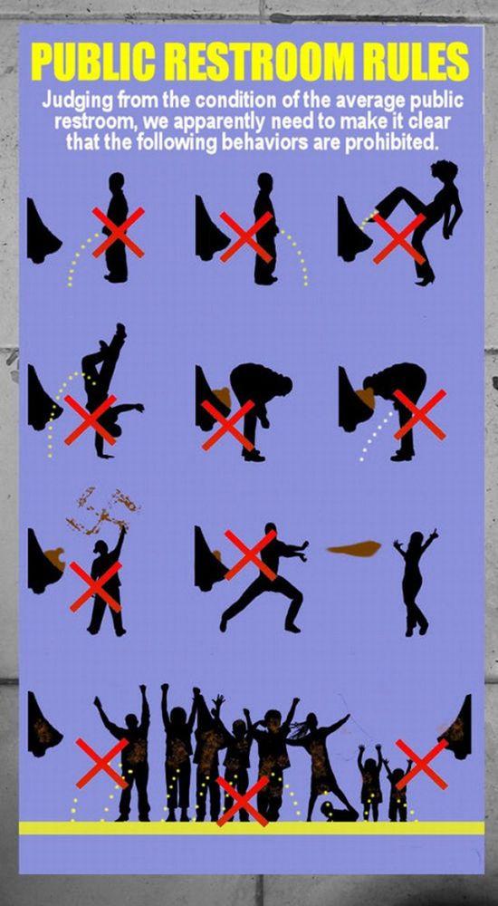 Funny Public Restroom Rules (1 pics)