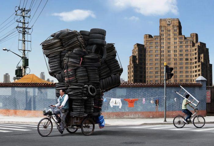Heavy Bicycle Loads (9 pics)