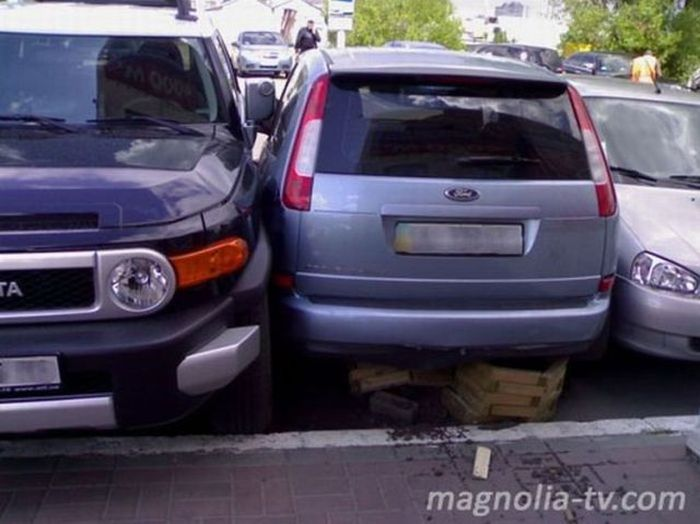Oldie of the Day. Extreme Parking (7 pics)