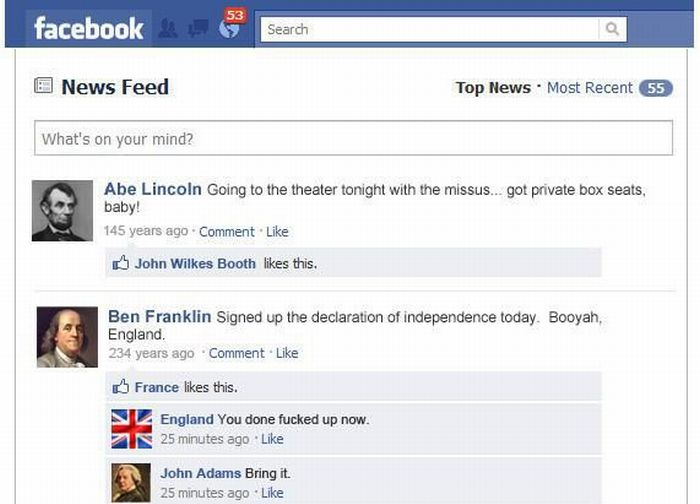 Historical Events on Facebook (1 pic)