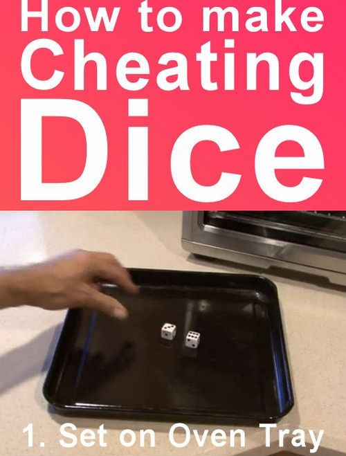 How to Make Cheating Dice (4 pics)