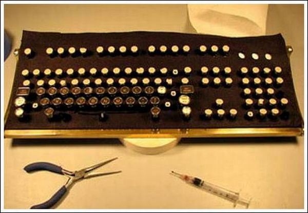 Steampunk Keyboard (43 pics)