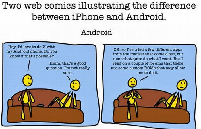 Android vs iPhone (1 pics)