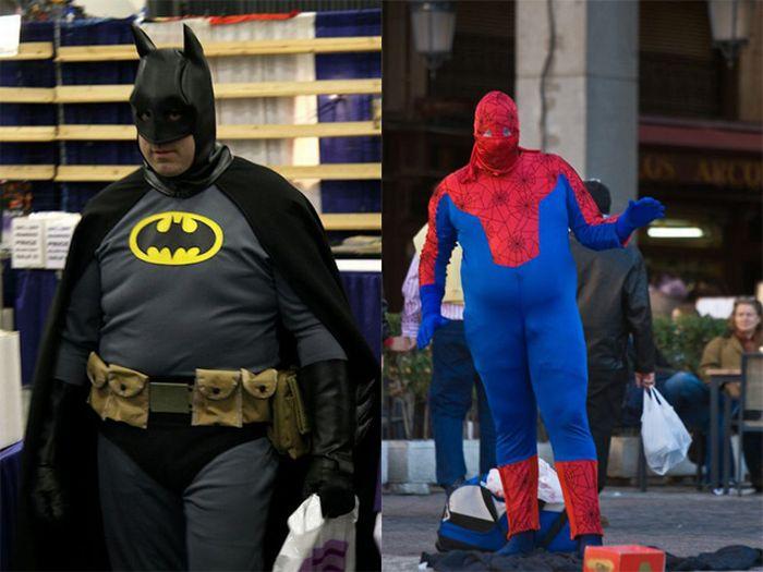 Fat Batmans and Spidermans (50 pics)