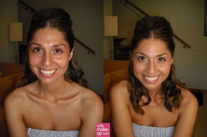 Women with and without Make-up (25 pics)