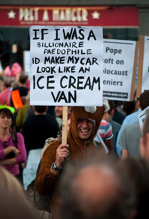 Pope Protest Signs (30 pics)