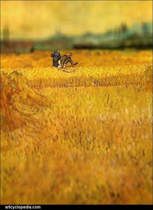 Van Gogh's Paintings with Tilt-Shift Effect (16 pics)