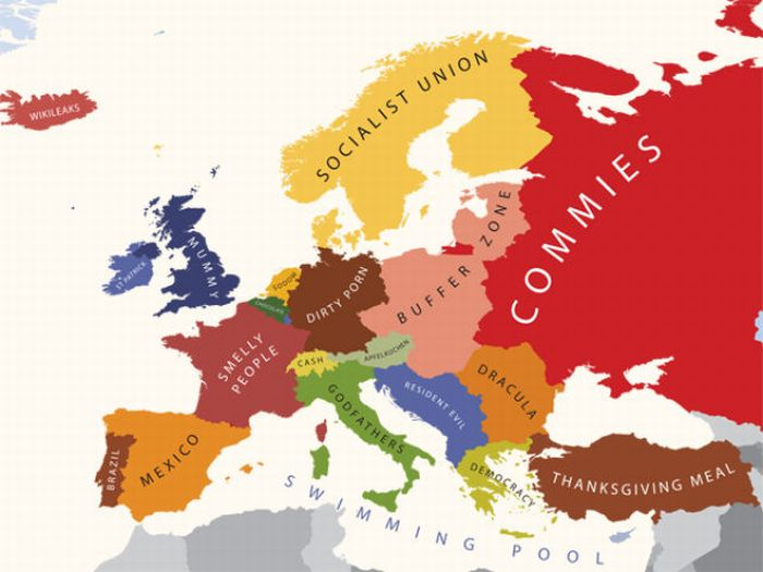 Mapping Stereotypes of Europe (9 pics)