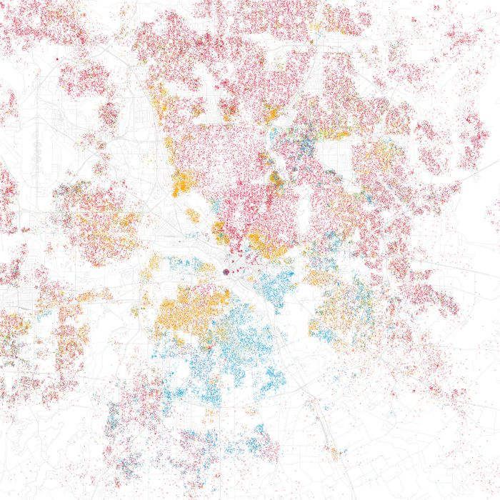 Race Maps of US Cities (66 pics)