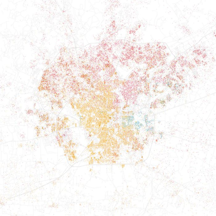 Race Maps of US Cities (66 pics)