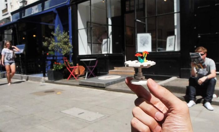 Legos Blending in with City Life (11 pics)