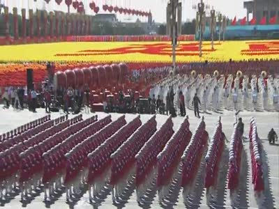 China PLA women Army National Day Parade 2009