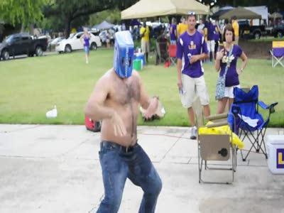 Dancing Beer Box Head Guy
