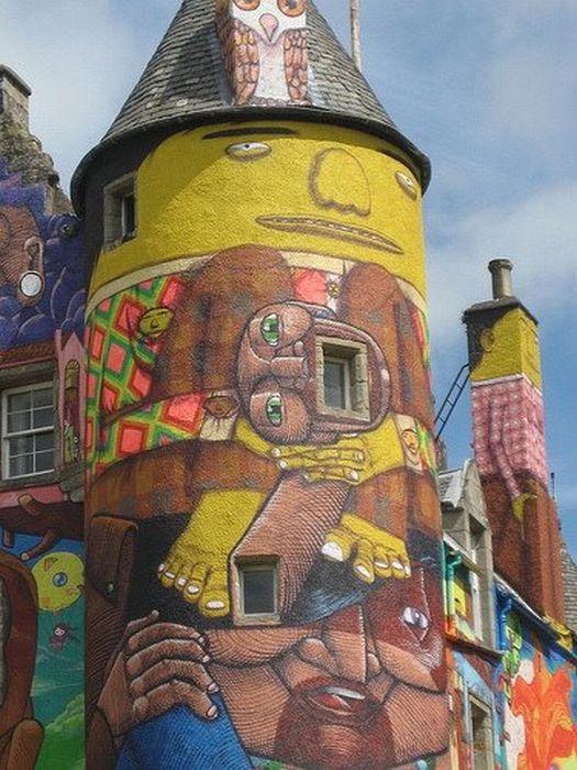 Castelos grafitados na Escócia