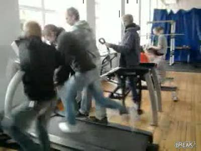 Relay Treadmill Faceplant