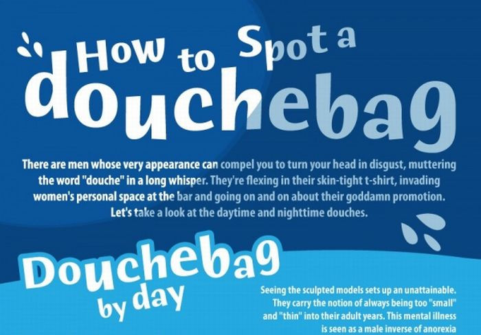 How To Spot A Douchebag (Infographic)
