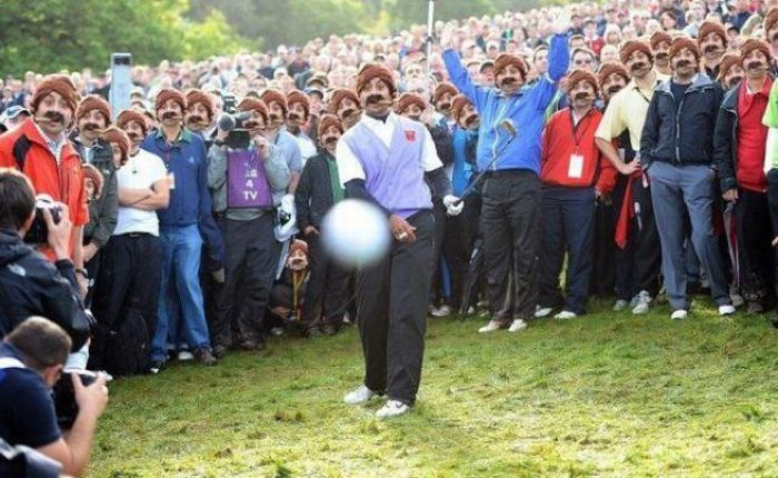 Tiger Woods Photo Guy Gets Photoshopped (40 pics)
