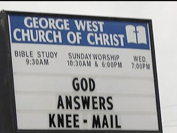 Funny Church Signs (12 pics)