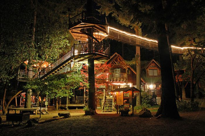 Awesome treehouses 32 pics for Amazing big houses