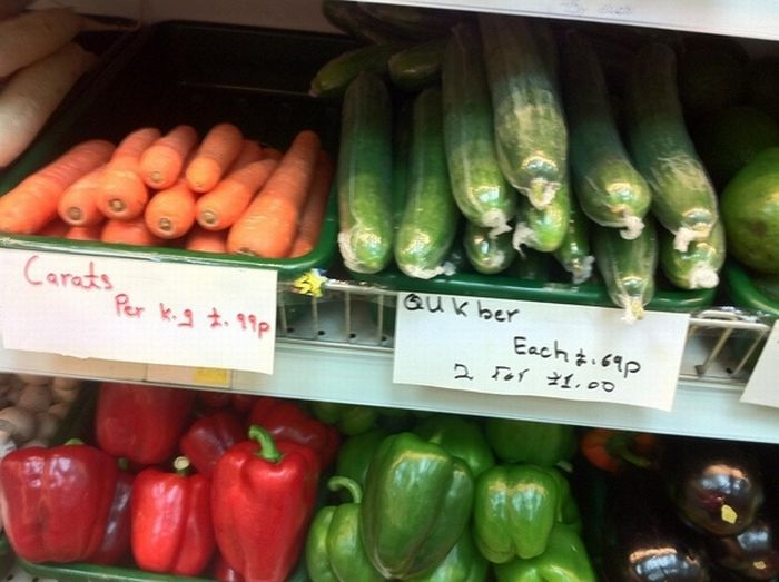 They Just Can't Spell Vegetable Names (5 pics)