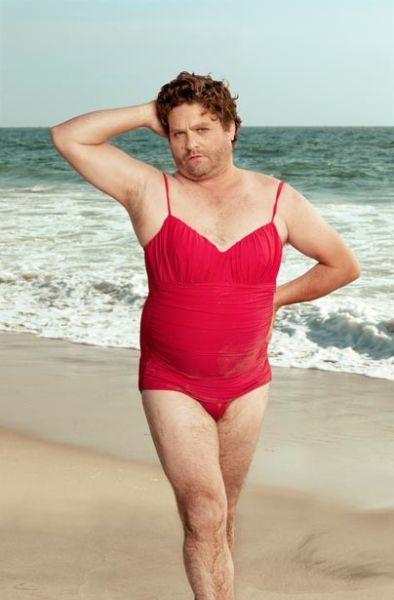 Swimsuit Calendar with Zach Galifianakis (6 pics)