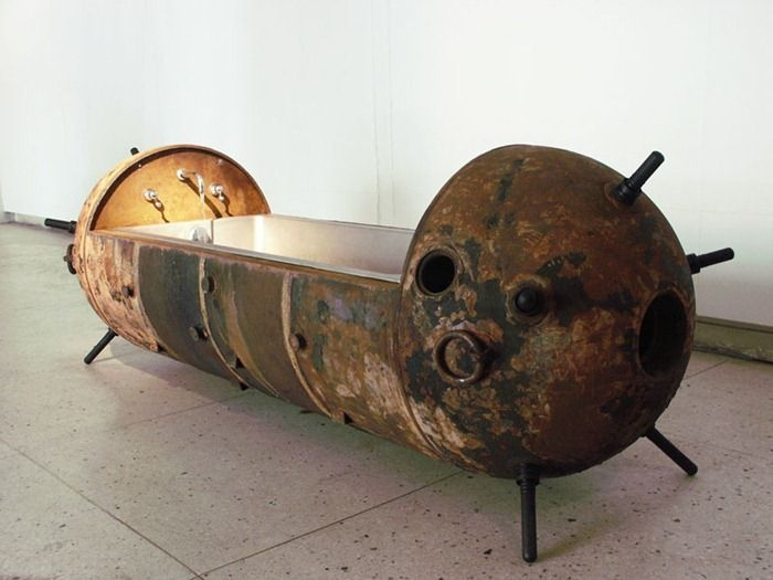 Furniture Made from Rusted Soviet Naval Mines (9 pics)