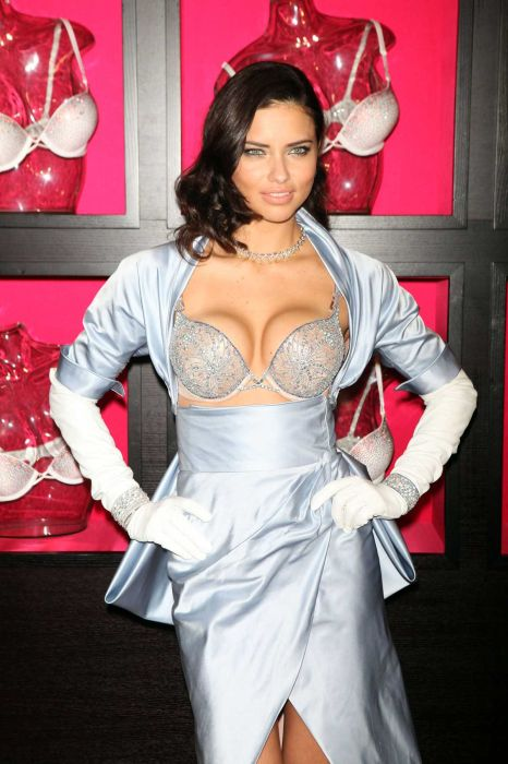 Adriana Lima Wearing Two Million Dollar Bra (9 pics)