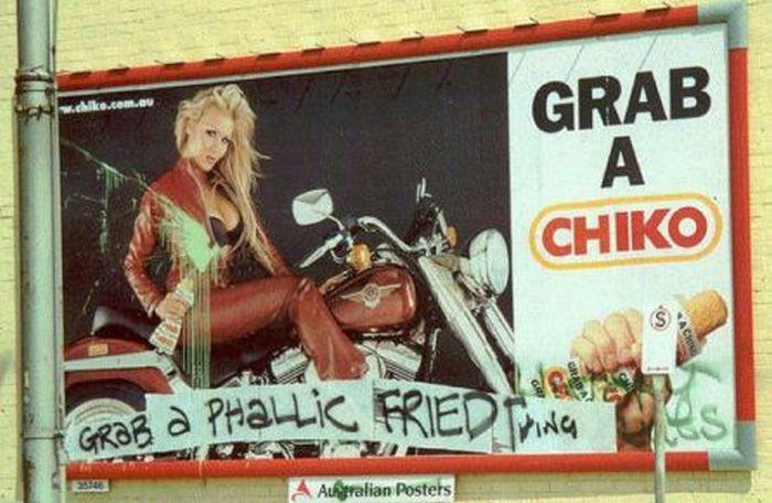 Billboards Improved By Graffiti (40 pics)