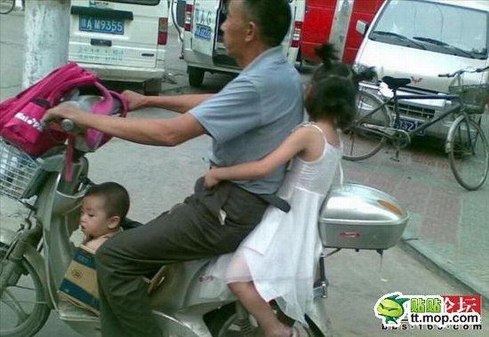 Taking Kids to School (4 pics)