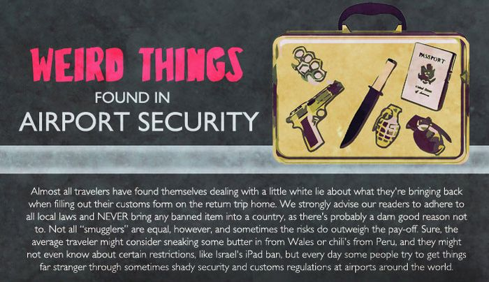 Weird Things Found in Airport Security (infographic)