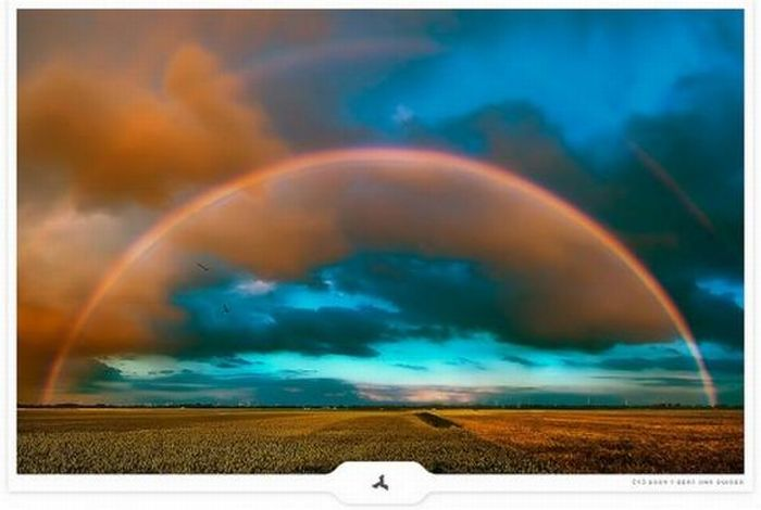 Unusual places for rainbows