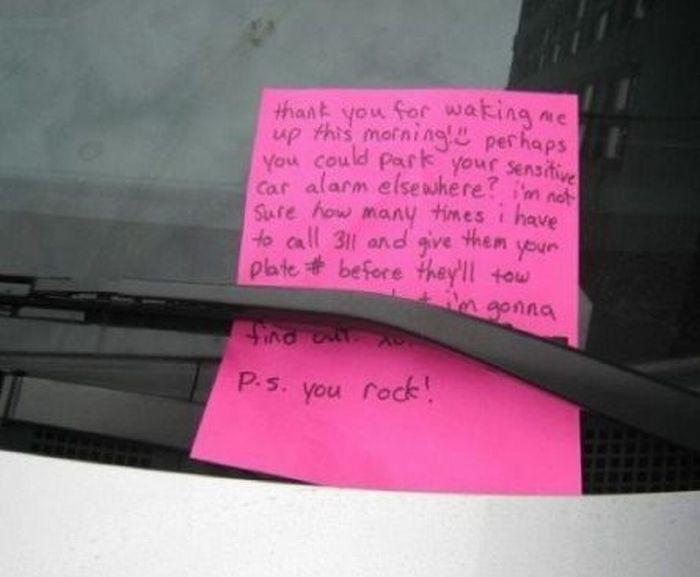 Passive Aggressive Parking Notes (38 pics)