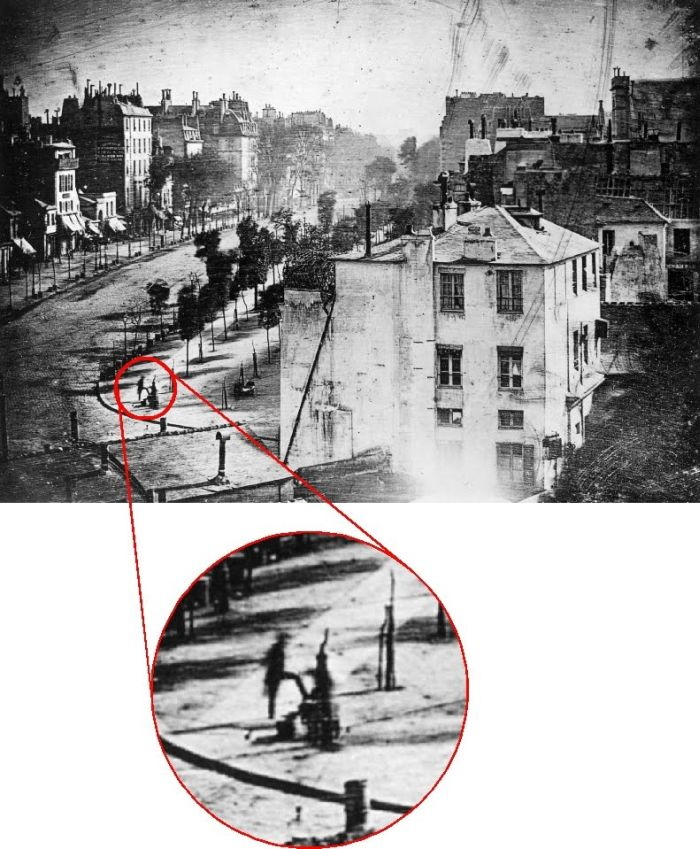 First Known Photo of a Human (2 pics)