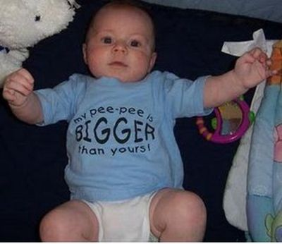 Babies Wearing Naughty T-Shirts (20 pics)