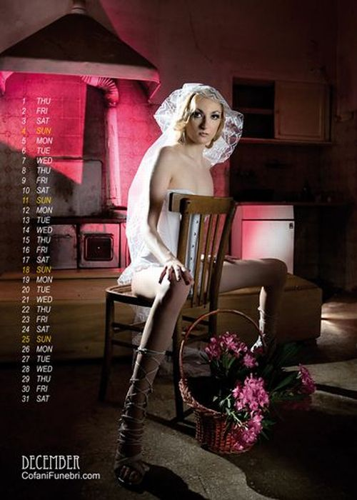 Coffin Maker Launches Sexy Calendar (33 pics)