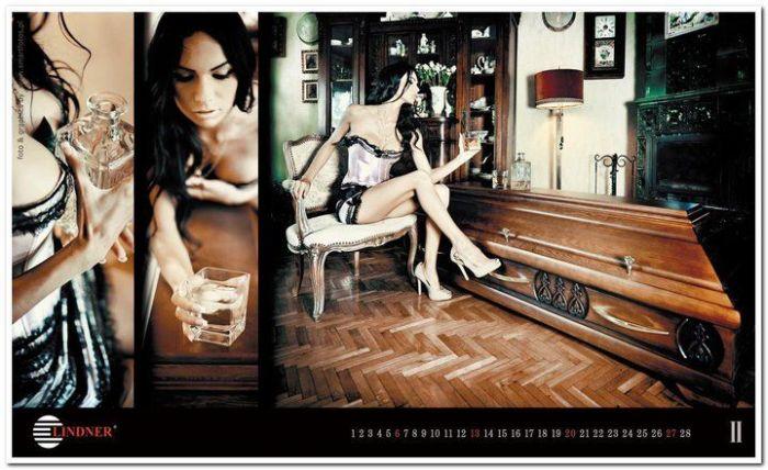 Coffin Maker Launches Sexy Calendar (33 pics)