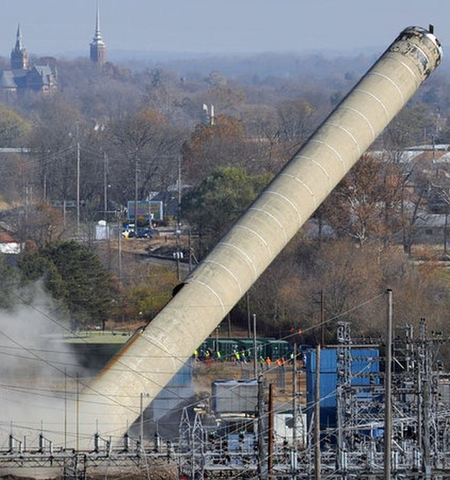 Smokestack Demolition Goes Wrong (13 pics + video)