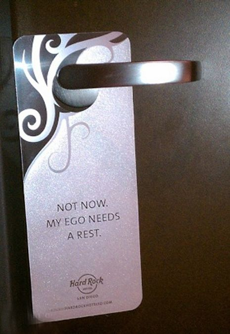 Unusual Hotel Do Not Disturb Signs (12 pics)
