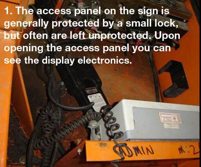 How to Hack Electronic Road Sign (3 pics)