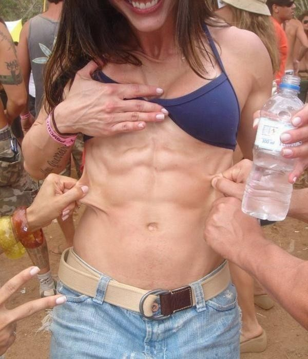Naked indian women abs