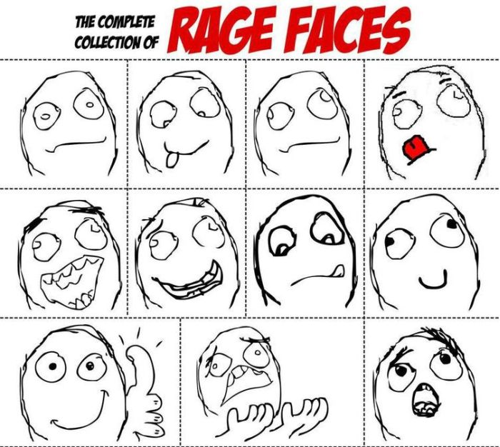 The Complete Collection Of Rage Faces 10 Pics