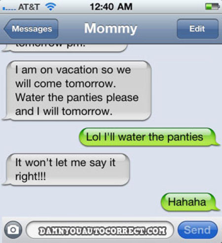 iPhone Auto Correct Screw Ups (39 pics)