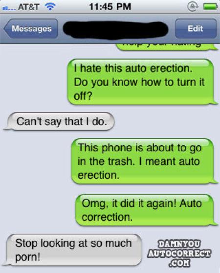 iPhone Auto Correct Screw Ups (39 pics)
