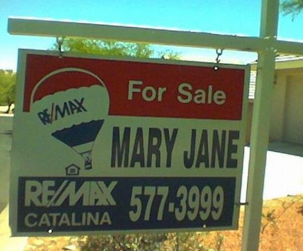Funny and Strange Names of Home Sellers (20 pics)